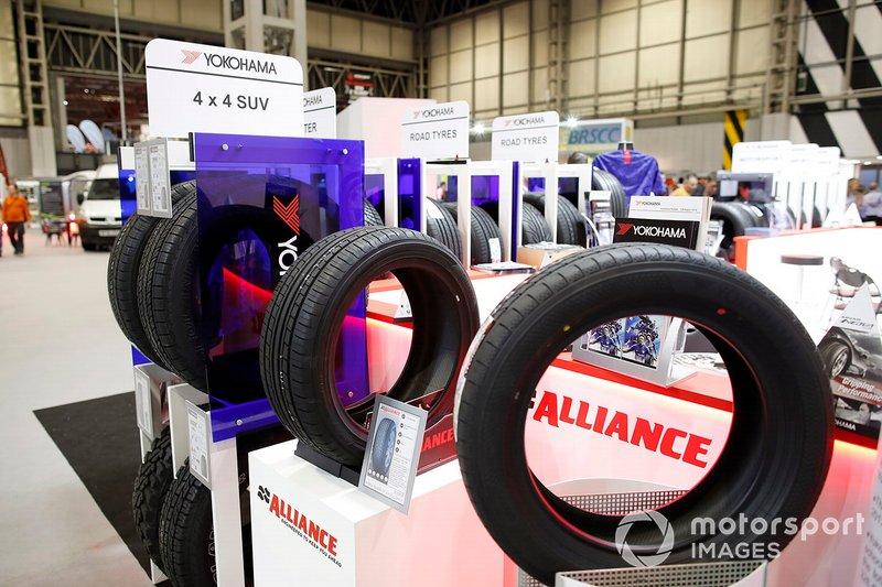 Tyres on the Yokohama stand