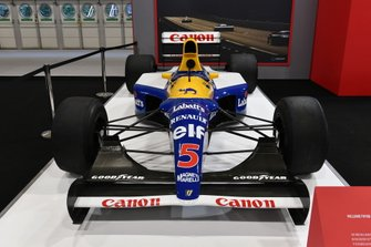 Nigel Mansell's Williams FW14B Renault on the Autosport stand