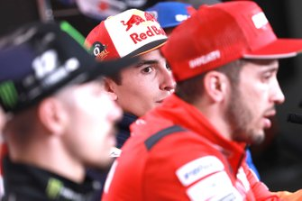 Maverick Vinales, Yamaha Factory Racing, Marc Marquez, Repsol Honda Team, Andrea Dovizioso, Ducati Team