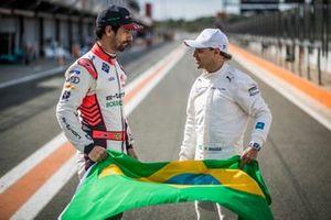 I piloti brasiliani Lucas Di Grassi, Audi Sport ABT Schaeffler, Felipe Massa, Venturi