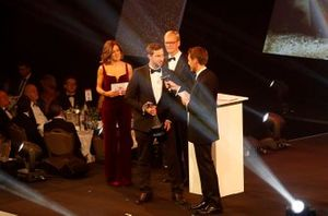 TGR Technical Director Tom Fowler accepts the Rally Car of the Year award won by the Toyota Yaris WRC