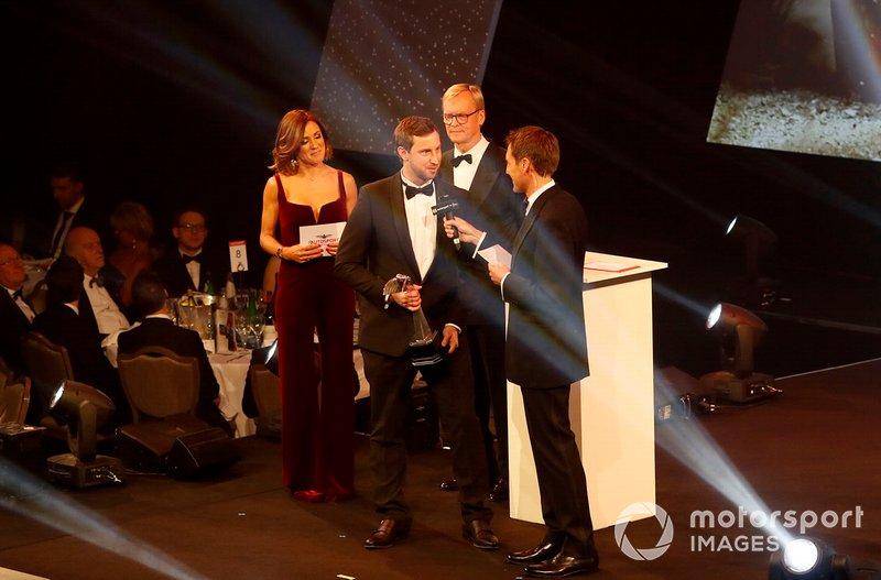 TGR Technical Director Tom Fowler riceve il Rally Car of the Year award vinto da Toyota Yaris WRC