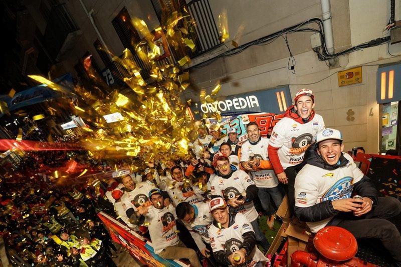 Marc Marquez, MotoGP-Weltmeister 2019, und Alex Marquez, Moto2-Weltmeister 2019
