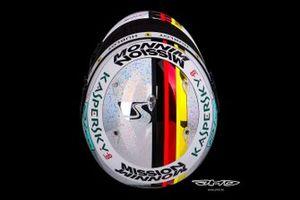 Helmet of Sebastian Vetel, Ferrari