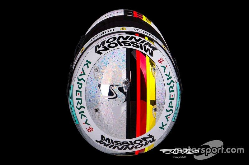 El casco de Sebastian Vettel para el GP de Abu Dhabi