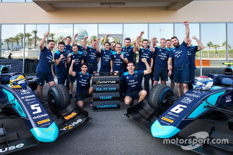 Sergio Sette Camara, Dams and Nicholas Latifi, Dams celebrate winning the 2019 Teams Championship with Dams