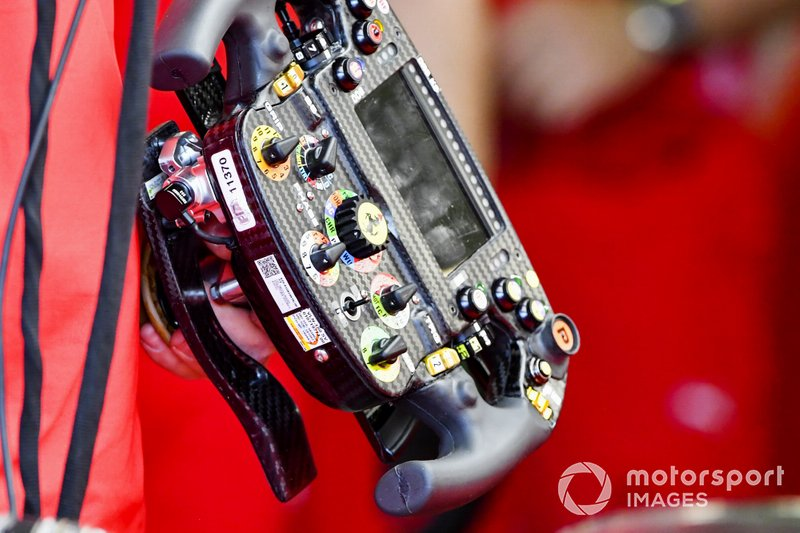 Steering wheel from the Ferrari SF90