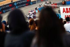 Sam Bird, Virgin Racing, Audi e-tron FE06 Jérôme d'Ambrosio, Mahindra Racing, M6Electro, Oliver Rowland, Nissan e.Dams, Nissan IMO2
