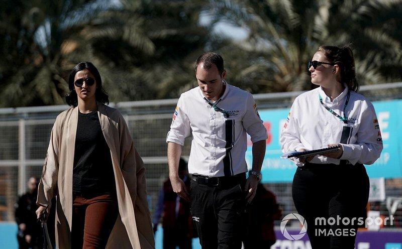 Reema Juffali, Jaguar VIP car on the track walk