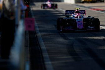 Lance Stroll, Racing Point RP19, Sergio Perez, Racing Point RP19