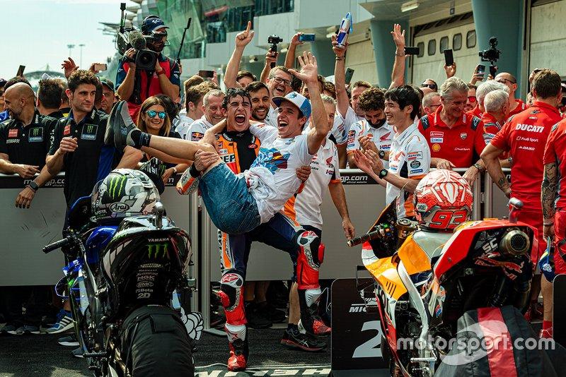 Марк Маркес, Repsol Honda Team, и Алекс Маркес, Marc VDS