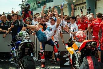 2. Marc Marquez, Repsol Honda Team, mit Bruder Alex Marquez, Moto2-Weltmeister 2019