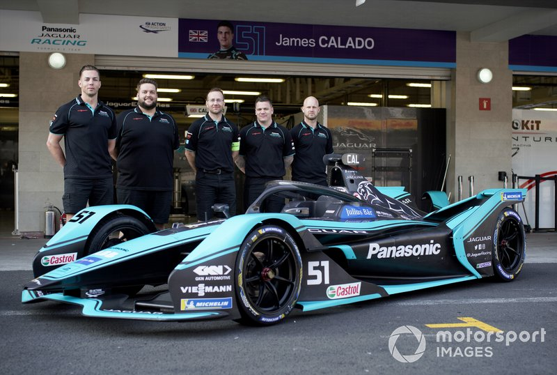 Members of the team with James Calado's, Panasonic Jaguar Racing, Jaguar I-Type 4