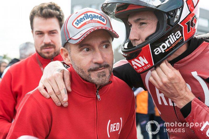 Aleix Espargaro, Aprilia Racing Team Gresini, mit Max Biaggi