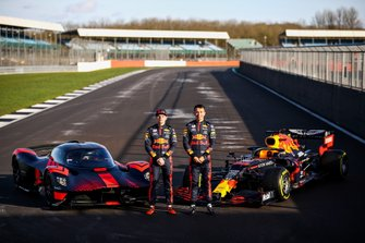 Max Verstappen, Red Bull Racing and Alexander Albon, Red Bull Racing driving the Red Bull Racing Aston Martin Valkyrie