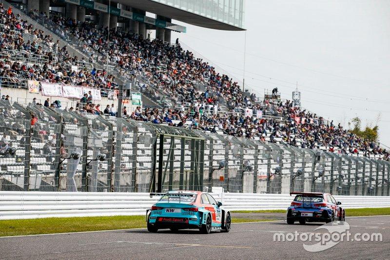Jean-Karl Vernay, Leopard Racing Team Audi Sport Audi RS 3 LMS, Norbert Michelisz, BRC Hyundai N Squadra Corse Hyundai i30 N TCR