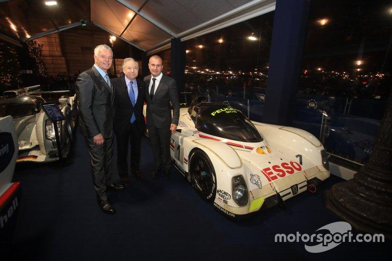 Jean Todt, presidente de la FIA, Derek Warwick, Yannick Dalmas
