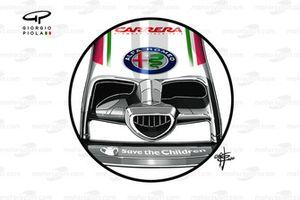 Nez de l'Alfa Romeo Racing C39