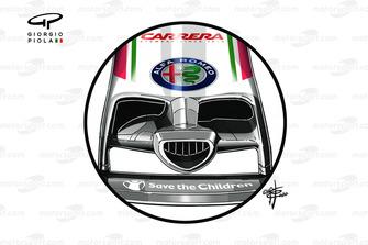 Alfa Romeo Racing C39 front nose