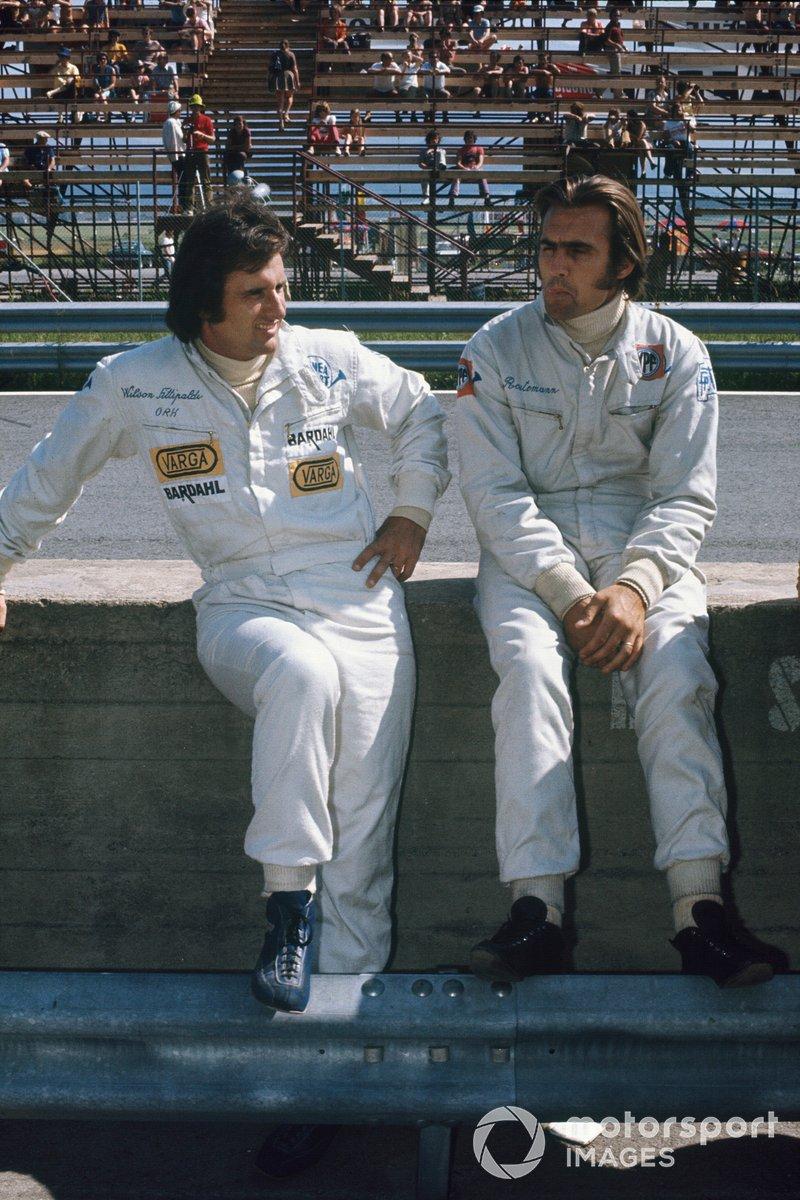 Los compañeros de equipo de Brabham Wilson Fittipaldi y Carlos Reutemann