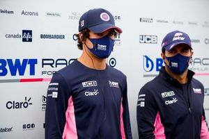 Lance Stroll, Racing Point, et Sergio Perez, Racing Point