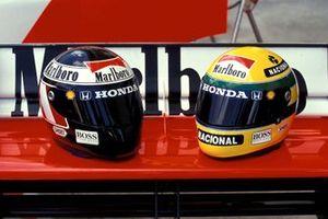Helmet of Gerhard Berger and Ayrton Senna, McLaren