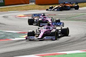 Lance Stroll, Racing Point RP20, Sergio Perez, Racing Point RP20, Carlos Sainz Jr., McLaren MCL35