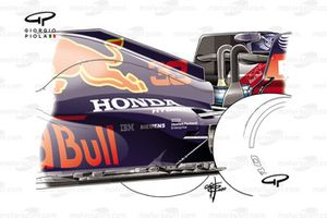 Red Bull Racing RB16 floor