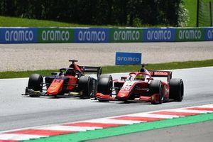 Mick Schumacher, Prema Racing, leads Nobuharu Matsushita, MP Motorsport
