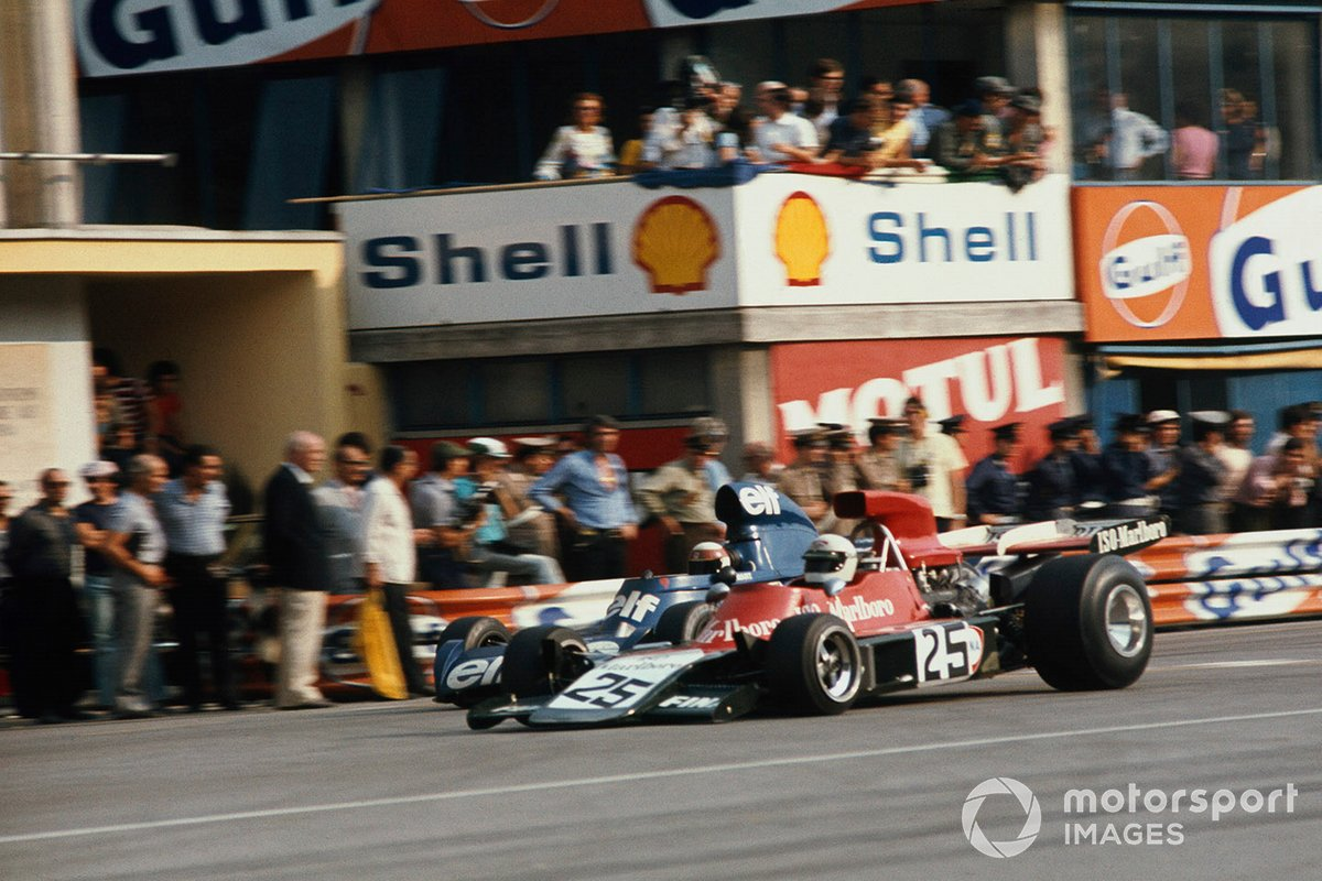 Howden Ganley, Williams IR03-Ford, Jackie Stewart, Tyrrell 006-Ford