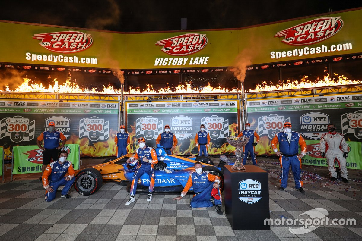 Race Winner Scott Dixon e Chip Ganassi Racing Honda team