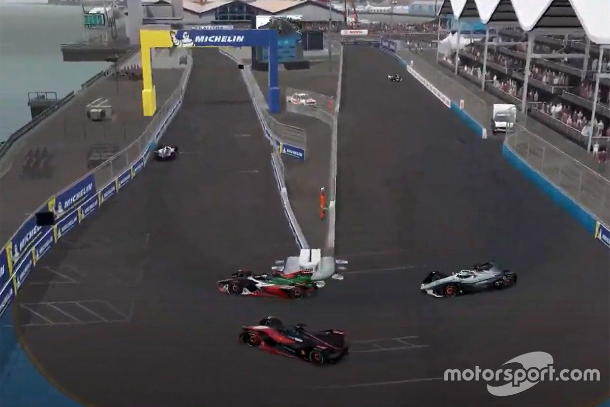 Оливер Роуленд, Nissan e.Dams и Кельвин ван дер Линде, Audi Sport ABT Schaeffler