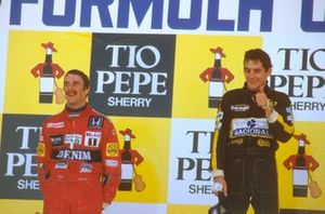 1. Ayrton Senna, Lotus, 2. Nigel Mansell, Williams