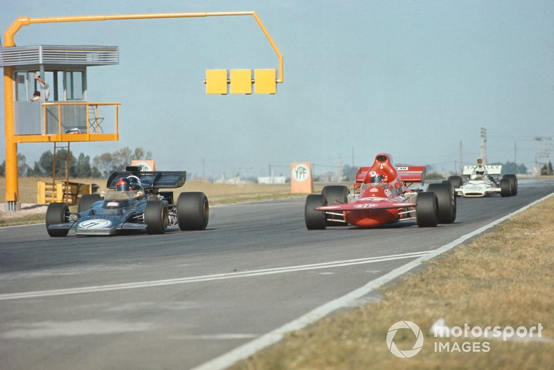 Emerson Fittipaldi, Lotus 72D Ford, Niki Lauda, March 721 Ford, GP d'Argentina del 1972
