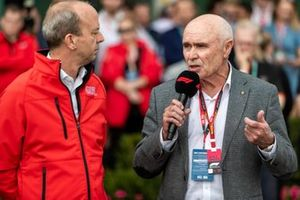 Andrew Westacott CEO, y Paul Little presidente de Australian Grand Prix Corporation
