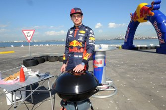 Max Verstappen, Red Bull Racing bij een Red Bull-event Grand Pier in St Kilda