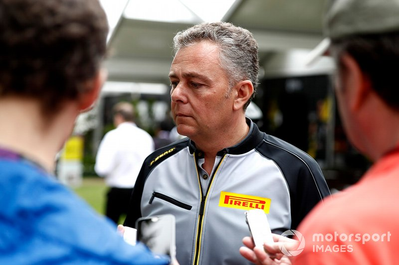 Mario Isola, Racing Manager, Pirelli Motorsport talks to the press