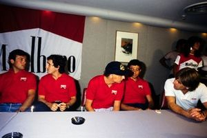 Patrick Tambay, Alain Prost, Niki Lauda, Michele Alboreto et Marc Surer