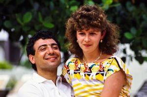 Michele Alboreto e sua moglie Nadia