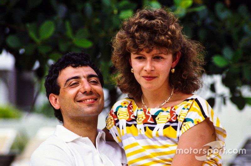 Michele Alboreto and wife Nadia