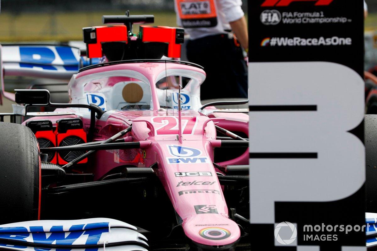 Car of Nico Hulkenberg, Racing Point RP20 in Parc Ferme