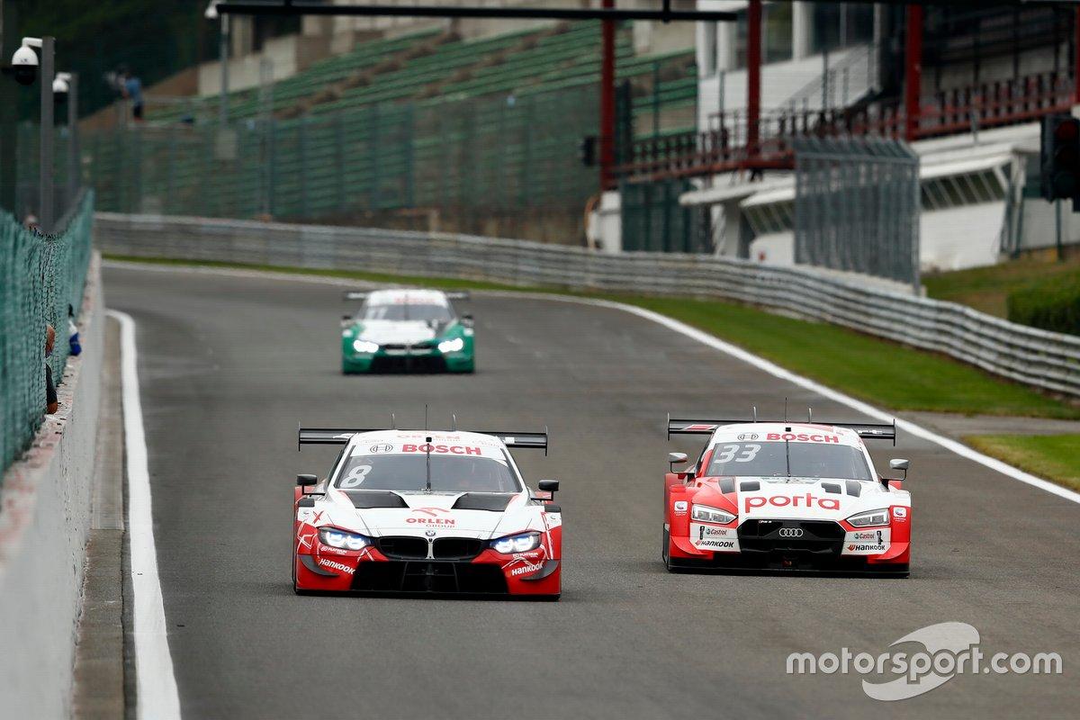 Robert Kubica, Orlen Team ART, BMW M4 DTM, René Rast, Audi Sport Team Rosberg, Audi RS 5 DTM
