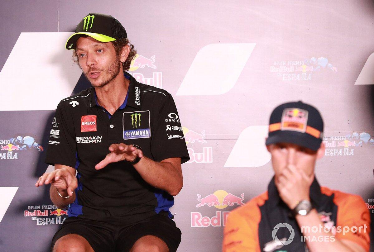 Valentino Rossi, en la conferencia de prensa