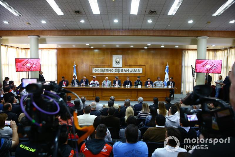 San Juan persconferentie