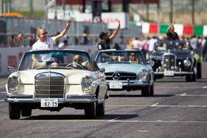 Valtteri Bottas, Mercedes AMG F1, , on the drivers parade