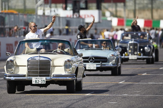 Valtteri Bottas, Mercedes AMG F1, , on the drivers parade