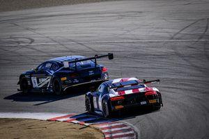 #19 Audi Sport Team WRT Audi R8 LMS: Robin Frijns, Dries Vanthoor, Markus Winkelhock, #9 K-Pax Racing Bentley Continental GT3: Alvaro Parente, Rodrigo Baptista, Bryan Sellers