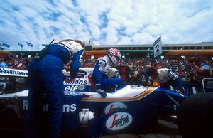 Pole sitter Nigel Mansell, Williams FW16B