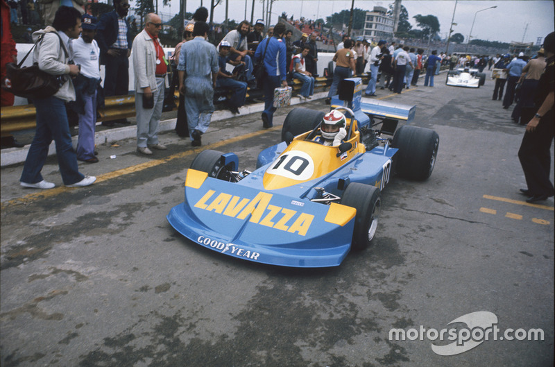 Lella Lombardi, March 761 Ford, GP de Brasil 1976.