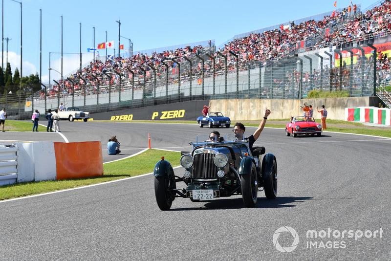 Daniel Ricciardo, Red Bull Racing, durante la drivers parade